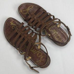 Sam Edelman Garland Strappy Sandals in Brown